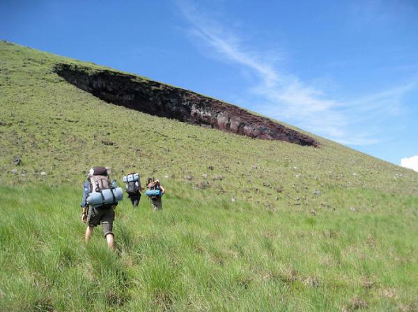 Hikers Ascending El Hoyo, Nicaragua