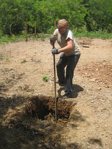 Dani working in Nicaragua