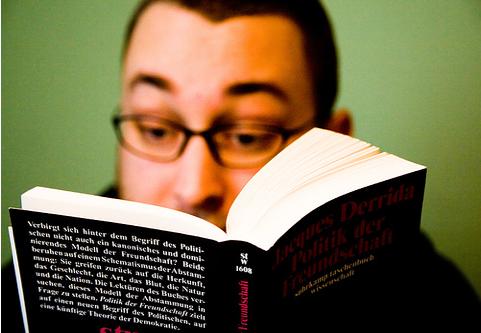 Reading Man by Martin Gommel