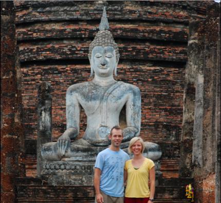 Visiting Wat Trapang Tong in Sukhothai, Thailand. Oct 2010